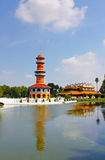 The Thai Royal Residence and Sages Lookout Tower royalty free stock photos