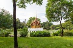 Thai Royal style golden pavilion Royalty Free Stock Photos