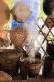 Thai rural kitchen stock photos