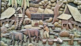 Thai Rural lifestyle in wooden craft Royalty Free Stock Photo