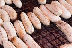 Thai söt mat för bananrostat bröd Arkivbild