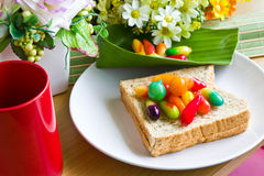 Thai's colorful desserts Royalty Free Stock Image