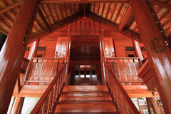 Thai`s house style architechture. Made of wood Stock Image