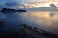 Thai's sea in the dawn at Prachuap bay Stock Photography