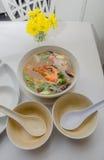 Thai's tomyam soup with prawn Stock Images
