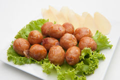 Thai's traditional sausages Stock Images