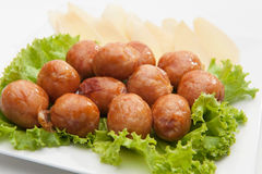 Thai's traditional sausages Royalty Free Stock Images