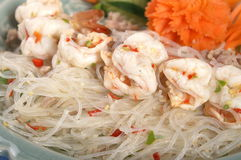 Thai salad. Jelly noodle with shrimp Stock Photo