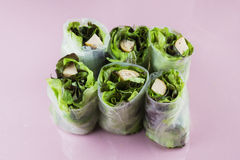 Thai salad rolled with sausages Royalty Free Stock Photo