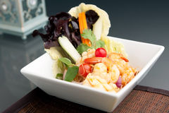 Thai Salad with Seafood Royalty Free Stock Images