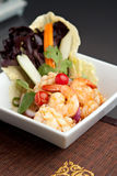 Thai Salad with Shrimp and Squid Stock Images