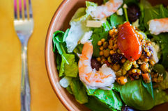 Thai salad with shrimps and vegetables Royalty Free Stock Images
