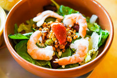 Thai salad with shrimps and vegetables Royalty Free Stock Photo