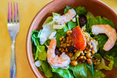 Thai salad with shrimps and vegetables Stock Photography
