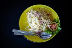 Thai salad Som Tam Stock Photos