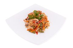 Thai salad. On a white background Stock Images