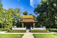 The Thai salo temple in park of Bad Homburg Royalty Free Stock Photos