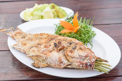 Thai Salt-Crusted Grilled Fish recipe Royalty Free Stock Photo