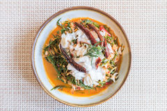 Thai Samphire and Crab Meat Salad Royalty Free Stock Photography