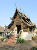 Thai sanctuary. The beautiful Thai style sanctuary, Chiangmai, Thailand Royalty Free Stock Images