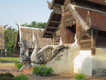 Thai sanctuary. The beautiful Thai style sanctuary, Chiangmai, Thailand Royalty Free Stock Photo
