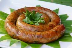 Thai sausage herb Royalty Free Stock Photos