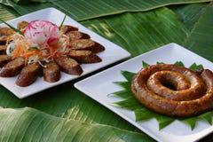 Thai sausage herb royalty free stock photo