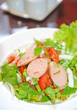 Thai sausage salad spicy Royalty Free Stock Image