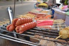 Thai sausage on street food market. Thai sausage on street food market Stock Images