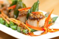 Thai Scallops Dish Stock Photography