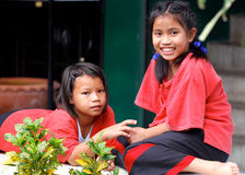 Thai school girls Royalty Free Stock Image