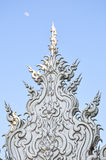 Thai sculpture. In the white temple in the moon background Stock Photography