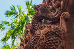 Thai sculpture of laterite legend bird Royalty Free Stock Photography