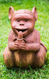 Thai sculpture of monkey Stock Photo