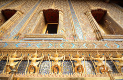 Thai sculpture wall Stock Photos
