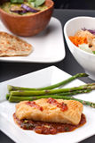 Thai Sea Bass and Asparagus Stock Images