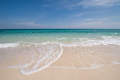 Thai Sea : White Sand Beach And Blue Sky Stock Photography