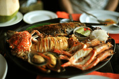 Thai seafood. View of thai seafood grill Stock Photography