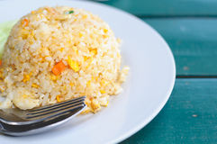 A Thai Seafood Delicious Menu Of Crab Fried Rice With Egg. 'Khao Pad Poo', A Thai Seafood Delicious Menu Of Crab Fried Rice With Egg Stock Photography