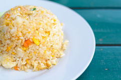 Thai Seafood Delicious Menu Of Crab Fried Rice With Egg. 'Khao Pad Poo', A Thai Seafood Delicious Menu Of Crab Fried Rice With Egg Royalty Free Stock Photography