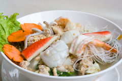 Thai seafood noodle Stock Photos