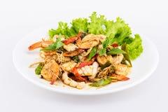 Thai seafood salad spicy Royalty Free Stock Photos