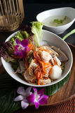 Thai Seafood Som Tum Salad Royalty Free Stock Photography