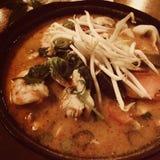 Thai seafood soup Stock Image