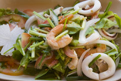 Thai seafood spicy salad Royalty Free Stock Image