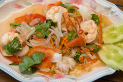Thai seafood spicy salad Stock Photography