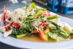Thai Seafood Spicy Salad Royalty Free Stock Photos