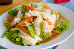 Thai Food Spicy Squid Curry Stock Photos
