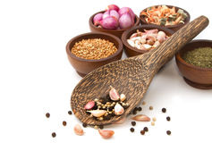 Thai Seasoning ,dried Herbs And Spices Stock Image