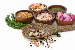 Thai seasoning ,dried herbs and spices Royalty Free Stock Image